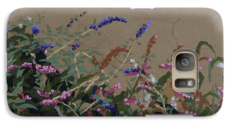 Flowering Butterfly Bush Galaxy S7 Case featuring the painting Tyler by Leah Tomaino