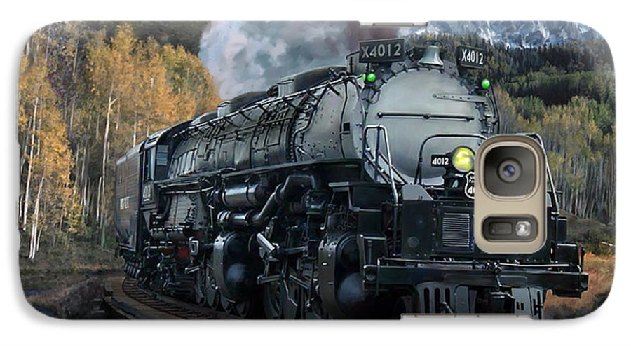Railroad Galaxy S7 Case featuring the painting Union Pacific 4-8-8-4 Big Boy by Mark Karvon