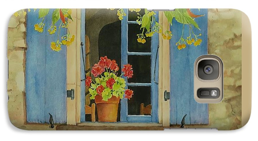 France Galaxy S7 Case featuring the painting Vacation Memory by Mary Ellen Mueller Legault
