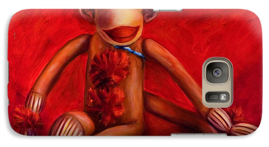 Children Galaxy S7 Case featuring the painting Valentine by Shannon Grissom