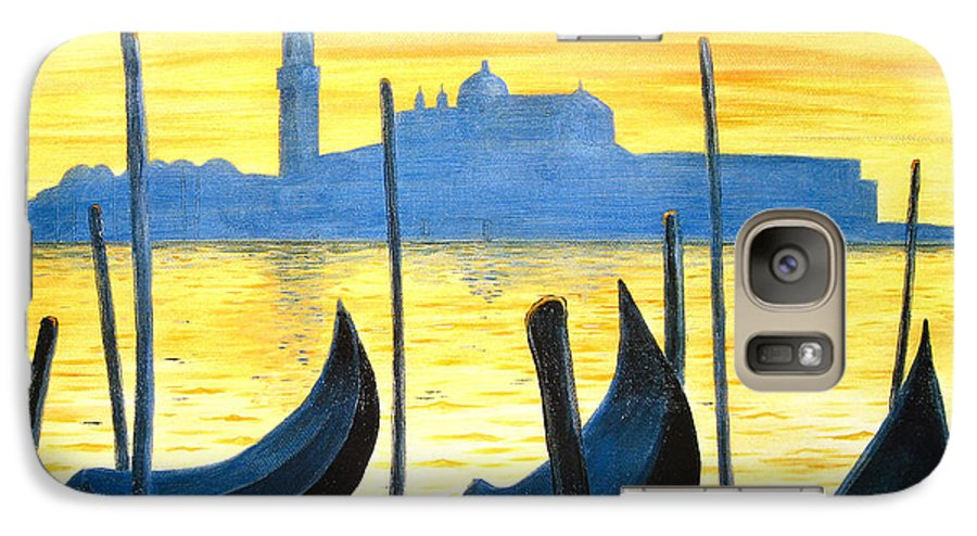 Venice Galaxy S7 Case featuring the painting Venezia Venice Italy by Jerome Stumphauzer