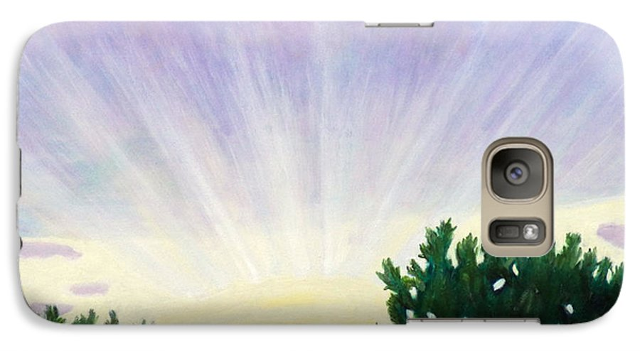 Skyscape Galaxy S7 Case featuring the painting Visionary Sky by Brian Commerford