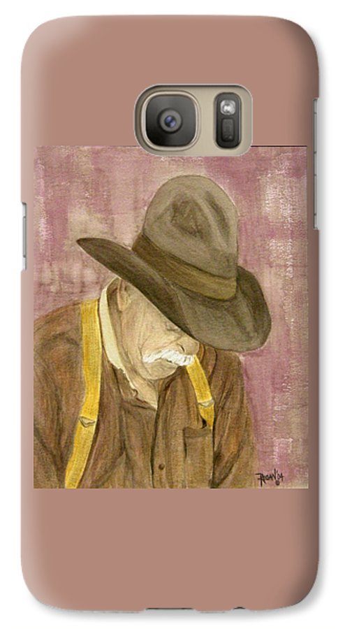 Western Galaxy S7 Case featuring the painting Walter by Regan J Smith