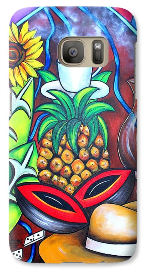 Cuban Paintings Galaxy S7 Case featuring the painting Welcome To Here And Now by Annie Maxwell