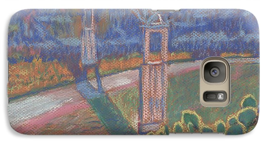 Pastel Galaxy S7 Case featuring the painting West Of The Pecos by Horacio Prada