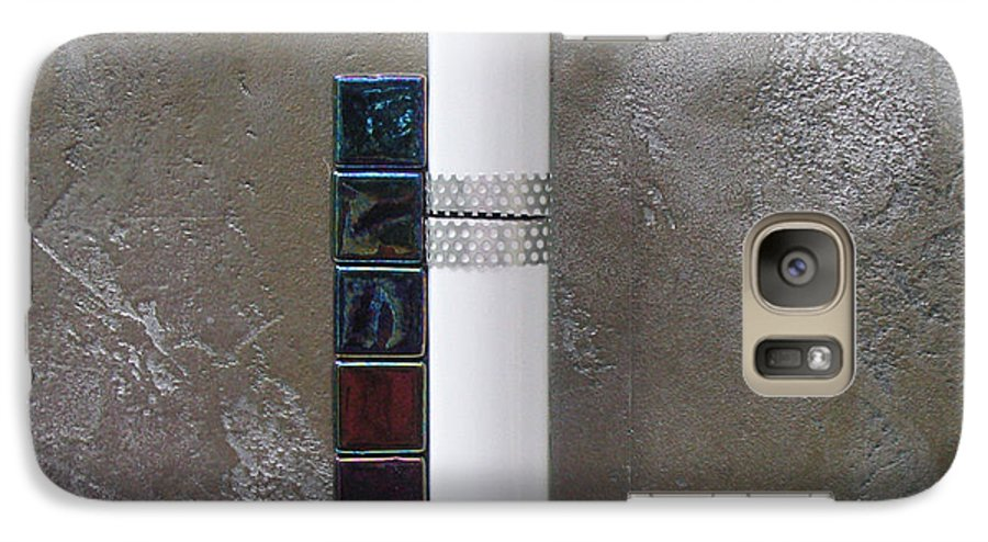 Assemblage Galaxy S7 Case featuring the relief White Tower by Elaine Booth-Kallweit
