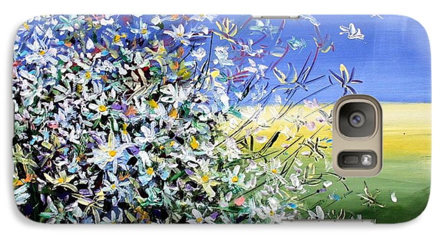 Daisies Galaxy S7 Case featuring the painting Wild Daisies by Mario Zampedroni