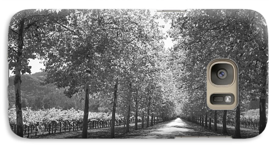 Black And White Galaxy S7 Case featuring the photograph Wine Country Napa Black And White by Suzanne Gaff