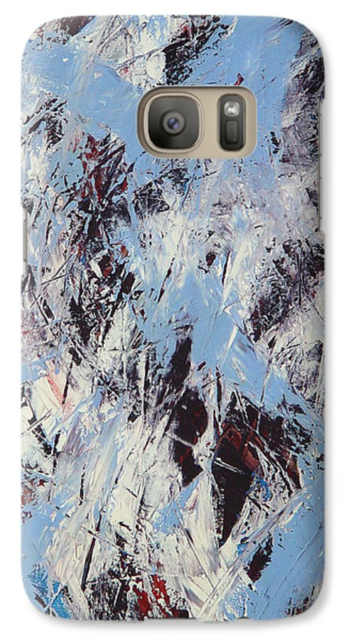 Abstract Galaxy S7 Case featuring the painting Winter by Dean Triolo