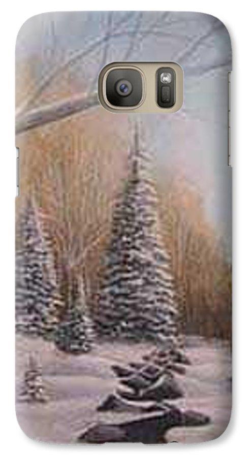 Rick Huotari Galaxy S7 Case featuring the painting Winter Morning by Rick Huotari