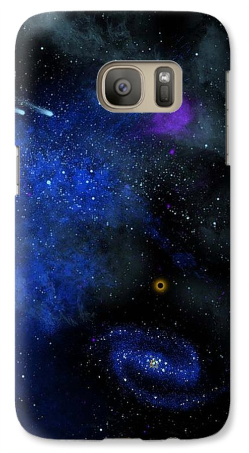 Wonders Of The Universe Mural Galaxy S7 Case featuring the painting Wonders Of The Universe Mural by Frank Wilson