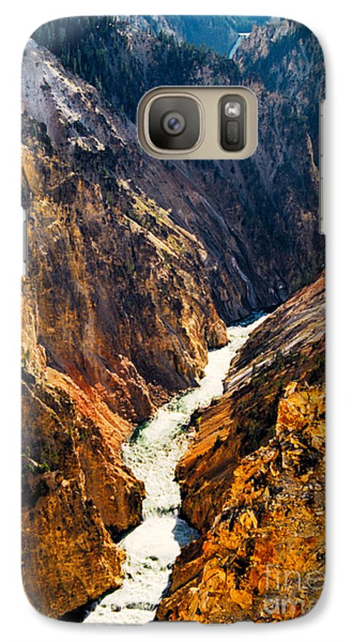 Yellowstone Galaxy S7 Case featuring the photograph Yellowstone River by Kathy McClure
