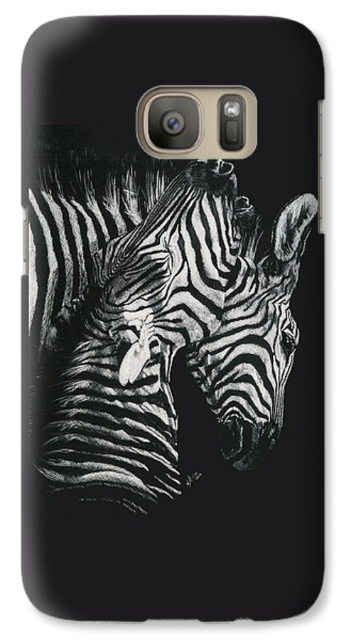 Art Galaxy S7 Case featuring the drawing Youngbloods by Barbara Keith