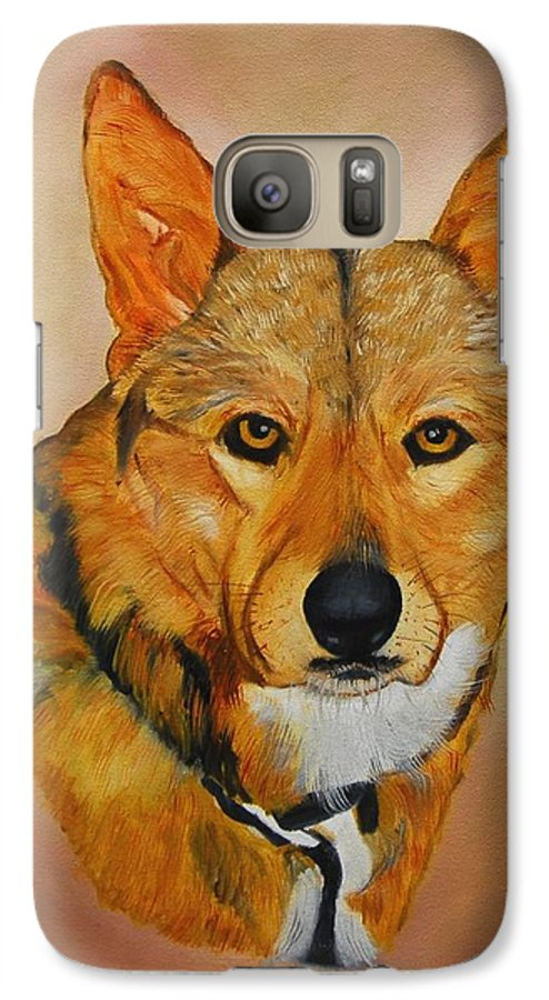 Animals Galaxy S7 Case featuring the painting Zavious by Quwatha Valentine
