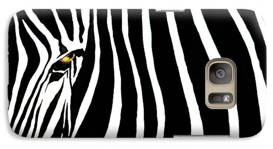 Zebra Galaxy S7 Case featuring the photograph Zebressence by Dan Holm