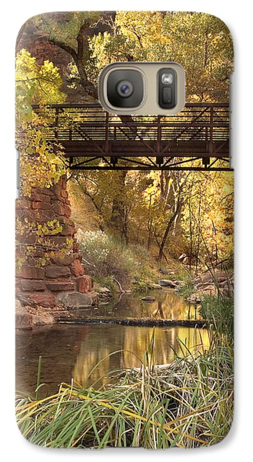 3scape Galaxy S7 Case featuring the photograph Zion Bridge by Adam Romanowicz