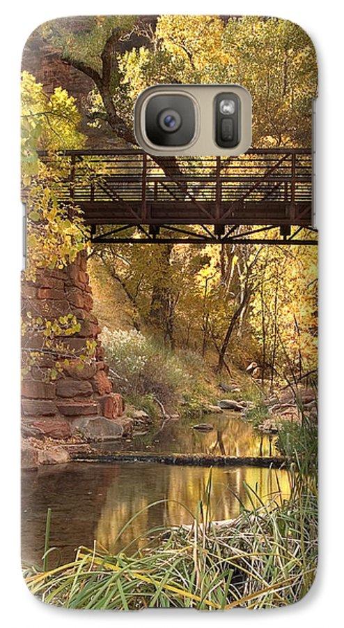 3scape Photos Galaxy S7 Case featuring the photograph Zion Bridge by Adam Romanowicz