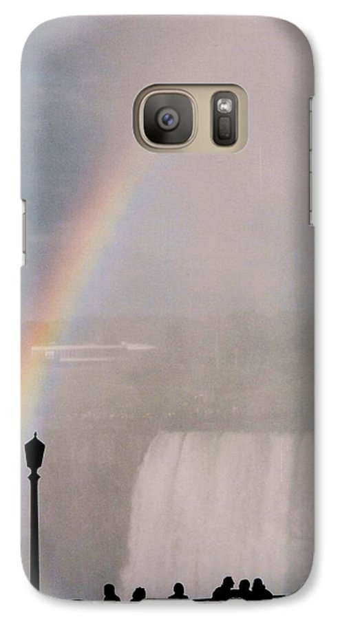 Waterfall Galaxy S7 Case featuring the photograph Rainbow Falls by Pharris Art