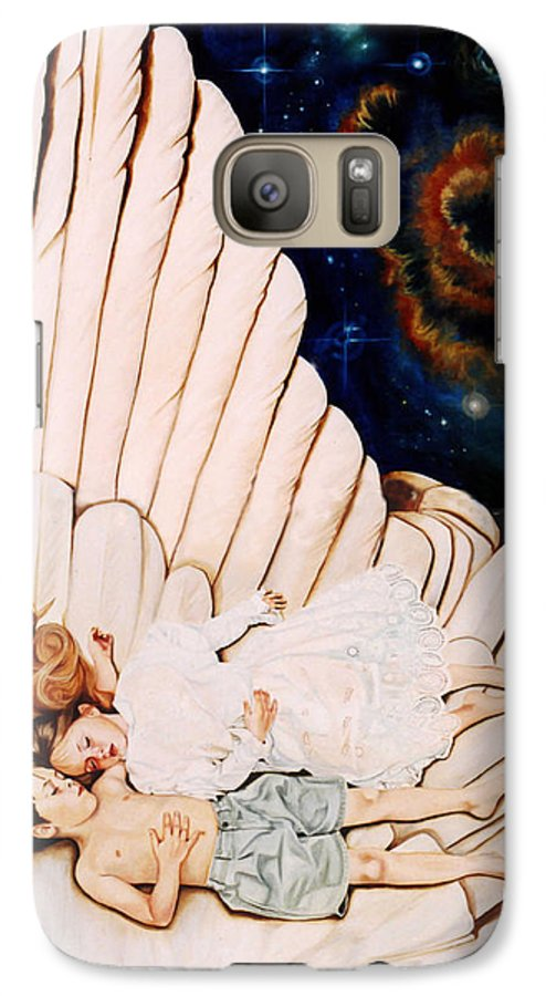 Be Still And Know That I Am God Galaxy S7 Case featuring the painting Be Still by Teresa Carter