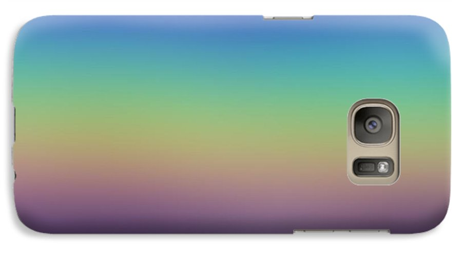 Evening.colors.silince.rest.sky.sea.clean Sky.violet.blue.yellow.rose.darkness. Galaxy S7 Case featuring the digital art Evening by Dr Loifer Vladimir