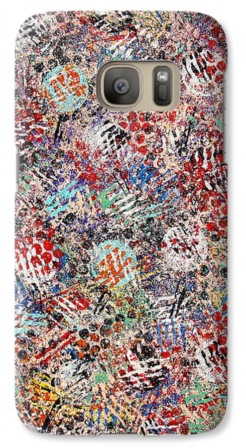 Golf Galaxy S7 Case featuring the painting Golf by Natalie Holland