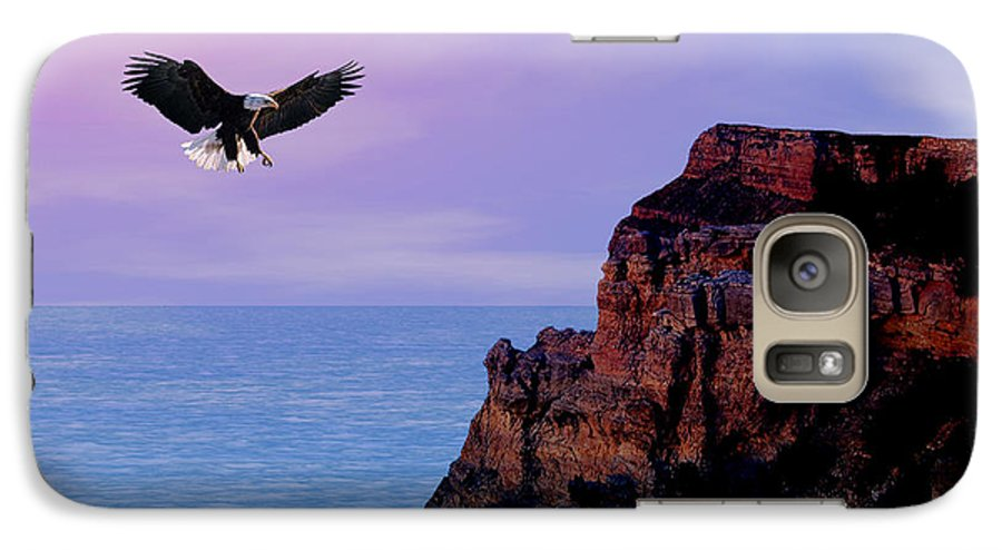 Eagle Galaxy S7 Case featuring the digital art I'm Free To Fly by Evelyn Patrick