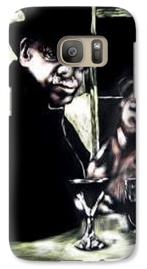 Commentary Galaxy S7 Case featuring the mixed media My Old New Orleans by Chester Elmore
