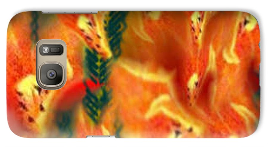 Florals Galaxy S7 Case featuring the digital art Symphonic Dance by Brenda L Spencer