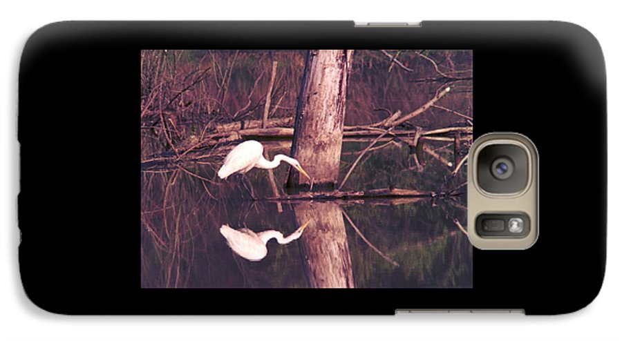 Great Egret Galaxy S7 Case featuring the photograph 070406-17 by Mike Davis