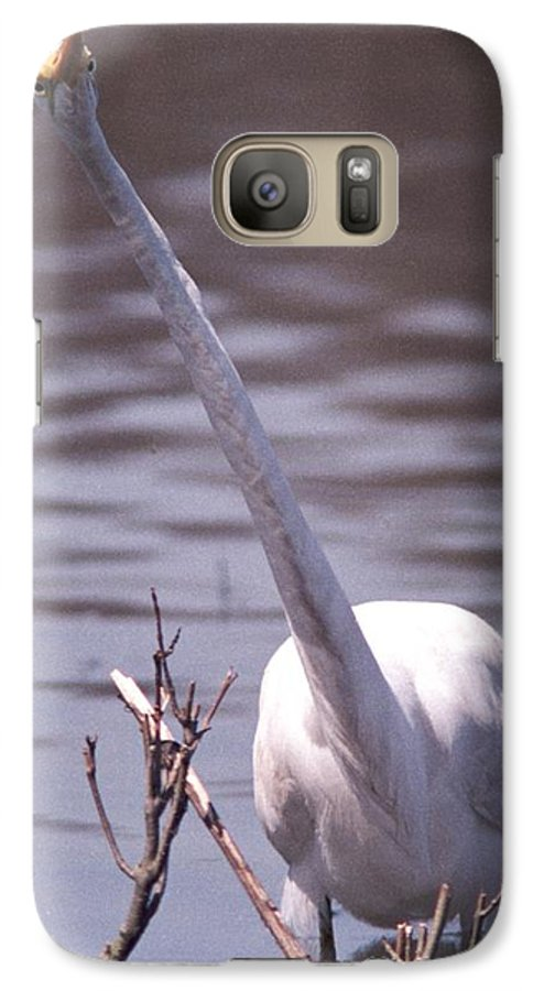 Egret Galaxy S7 Case featuring the photograph 070406-9 by Mike Davis