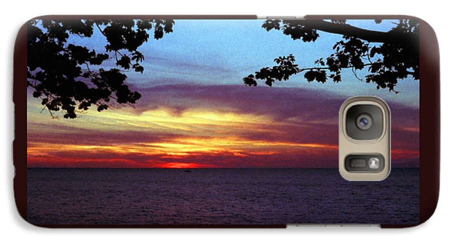 Sunset Galaxy S7 Case featuring the photograph 070506-68 by Mike Davis