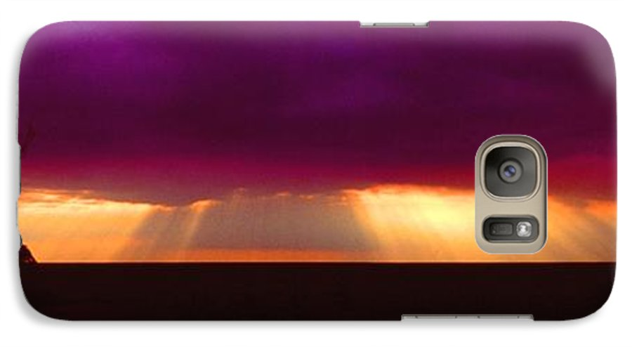 Sunset Galaxy S7 Case featuring the photograph 092908-4 by Mike Davis