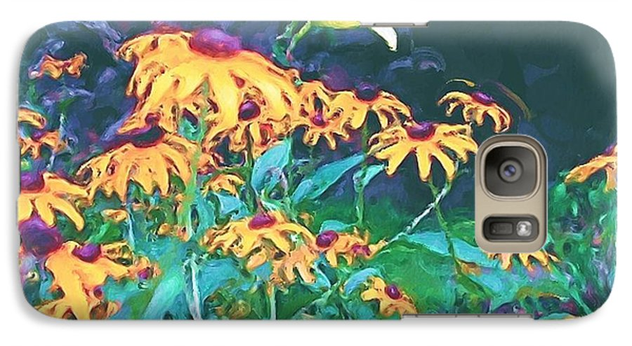 Mixed Media Galaxy S7 Case featuring the painting A Lily In The Field by Patricia Griffin Brett