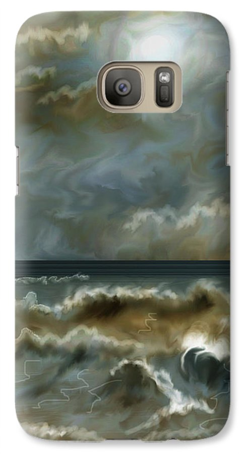 Seascape Galaxy S7 Case featuring the painting After The Squall by Anne Norskog