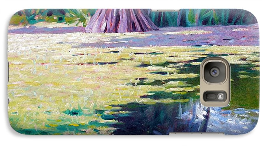 Water Galaxy S7 Case featuring the painting Algae by Kevin Lawrence Leveque