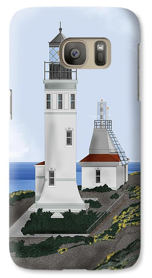 Lighthouse Galaxy S7 Case featuring the painting Anacapa Lighthouse California by Anne Norskog