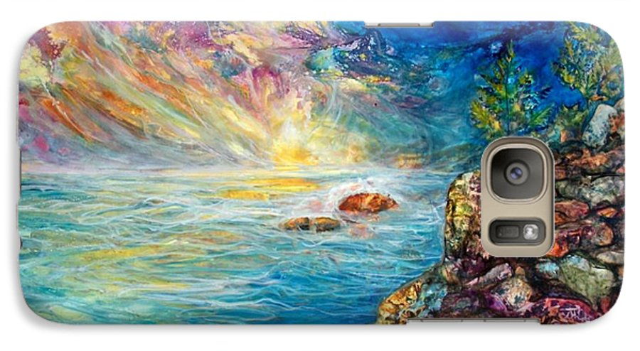 Seascape Galaxy S7 Case featuring the painting Ascension by Mary Sonya Conti