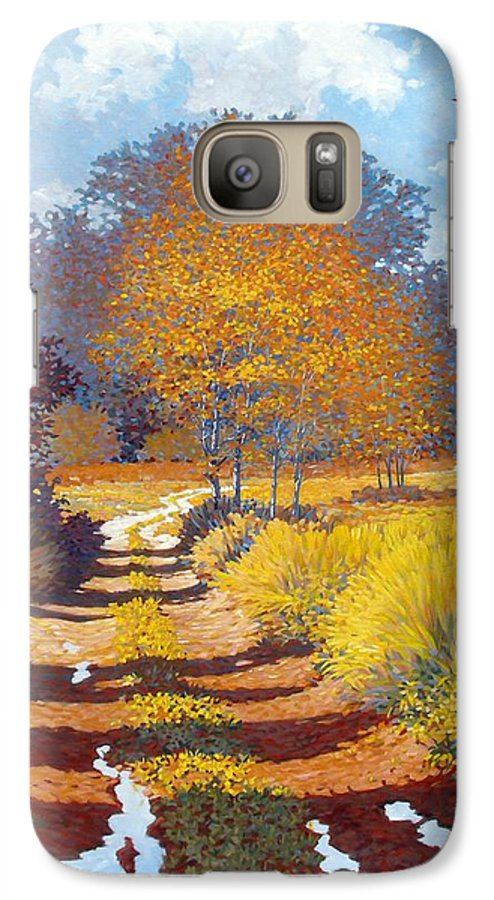 Landscape Galaxy S7 Case featuring the painting Autumn by Kevin Lawrence Leveque