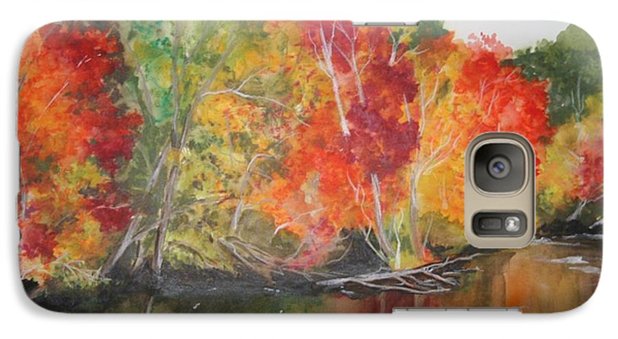Autumn Galaxy S7 Case featuring the painting Autumn Splendor by Jean Blackmer