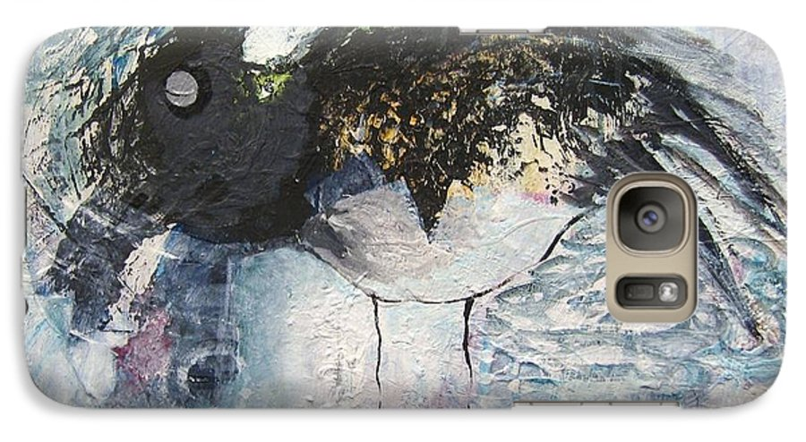 Robin Painting Galaxy S7 Case featuring the painting Baby Robin by Seon-Jeong Kim