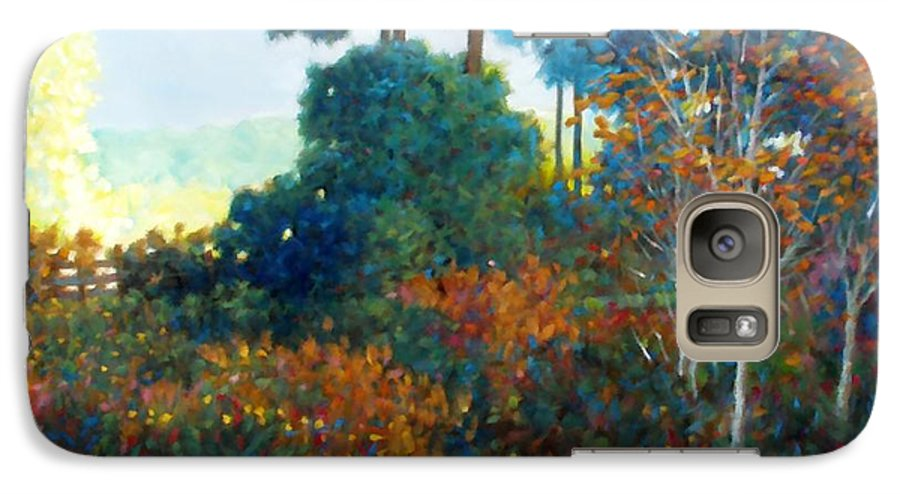 Landscape Galaxy S7 Case featuring the painting Back Gate by Kevin Lawrence Leveque