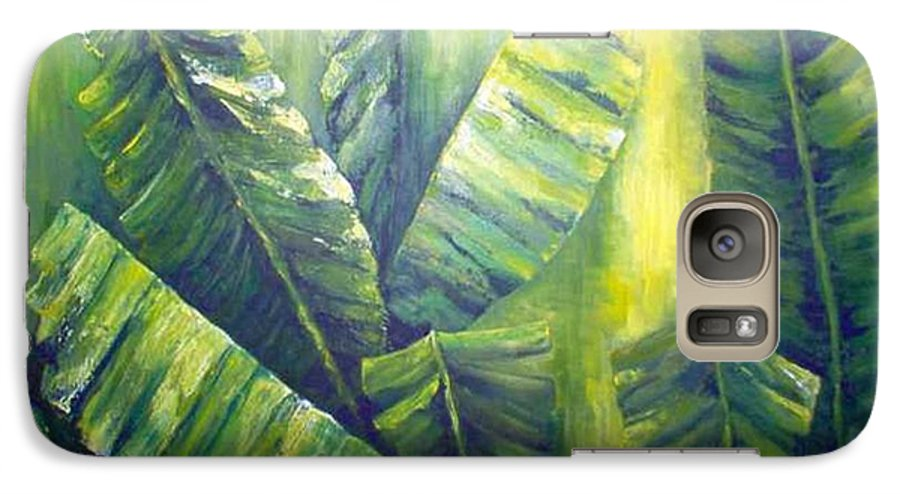 Bananas Galaxy S7 Case featuring the painting Bananas by Carol P Kingsley