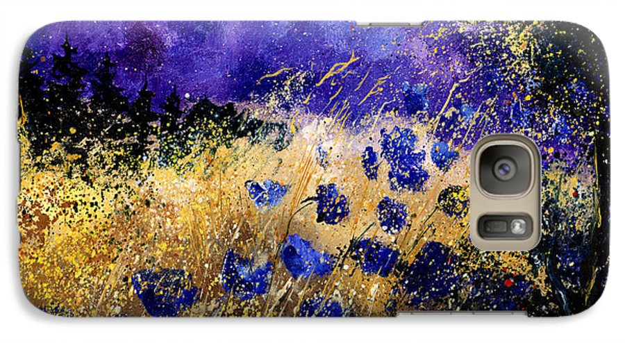 Poppies Galaxy S7 Case featuring the painting Blue Cornflowers by Pol Ledent