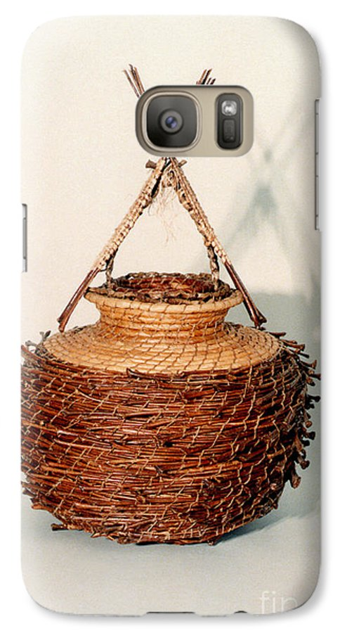 Fibre Galaxy S7 Case featuring the mixed media Bound And Unified In Contrast by Kerryn Madsen-Pietsch