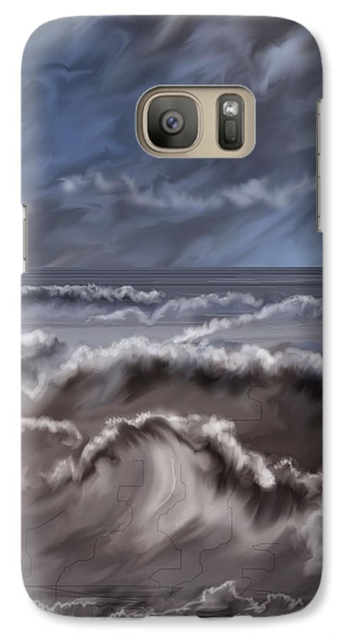 Seascape Galaxy S7 Case featuring the painting Caramel Seas by Anne Norskog