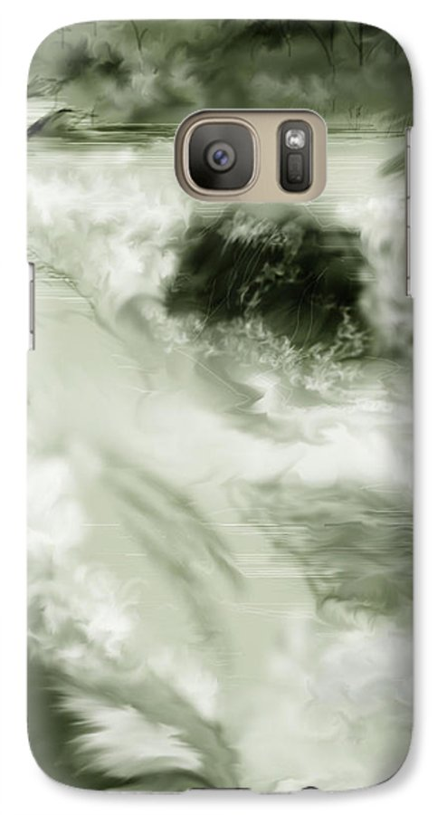 White Water Landscape Galaxy S7 Case featuring the painting Cherry Creek White Water by Anne Norskog