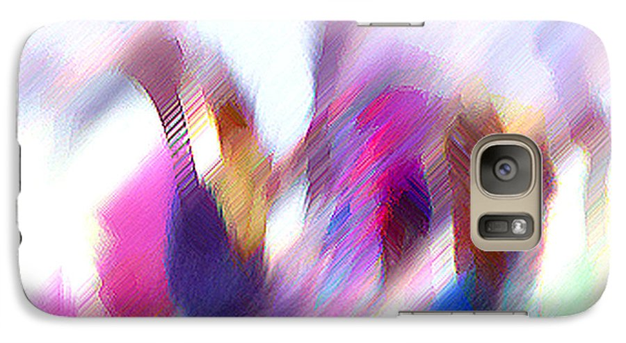 Digital Media Galaxy S7 Case featuring the painting Color Dance by Anil Nene