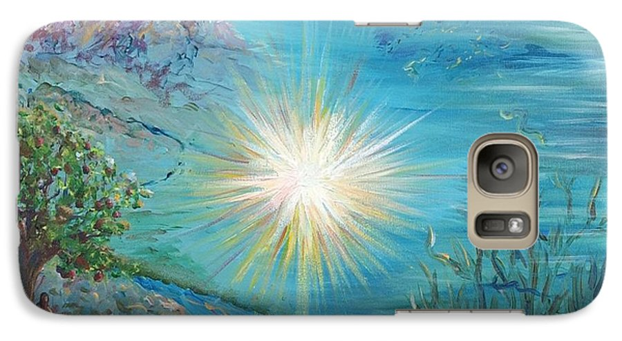 Creation Galaxy S7 Case featuring the painting Creation by Nadine Rippelmeyer