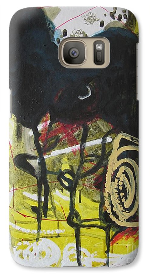 Abstract Paintings Galaxy S7 Case featuring the painting Crescent2 by Seon-Jeong Kim