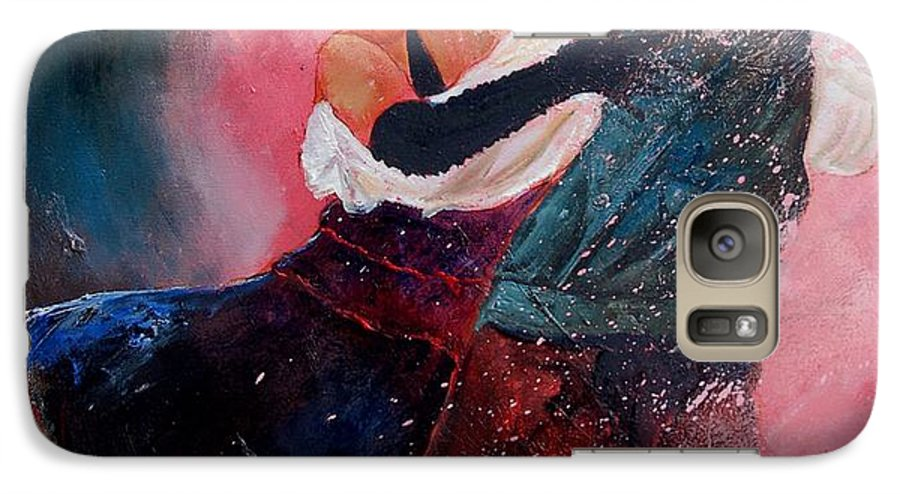 Music Galaxy S7 Case featuring the painting Dancing Tango by Pol Ledent
